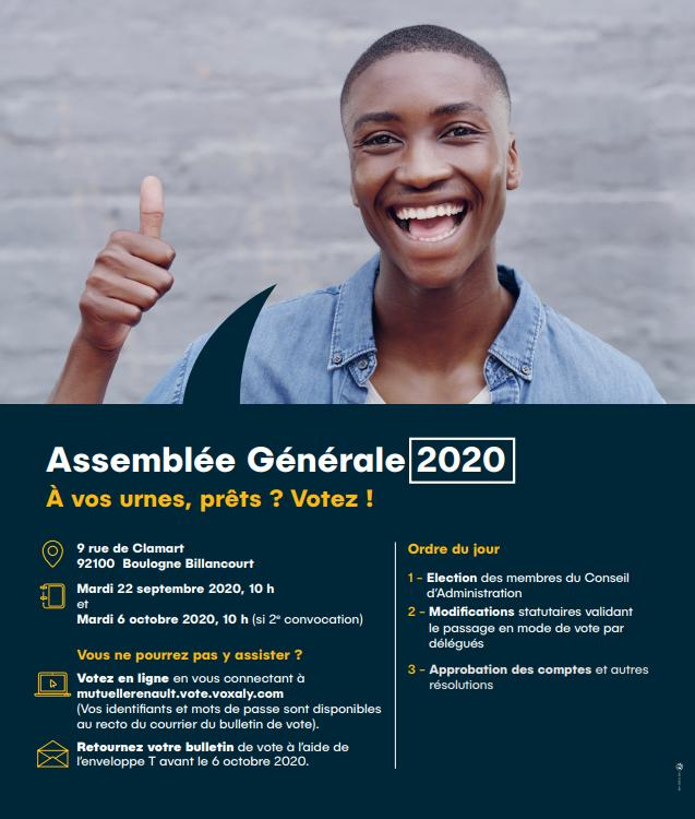 Assemblée Générale Mutuelle Dentaire Renault 2020 1